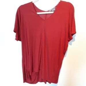 Vince Asymetrical Red Top